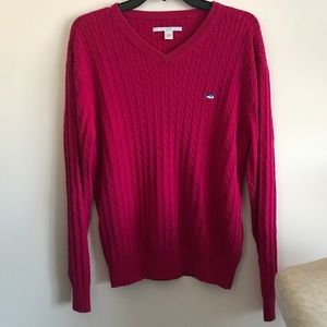 Southern Tide Raspberry Cable Cotton Sweater S/M